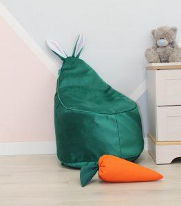 Велюровое изумрудное Кресло-мешок 80*55
