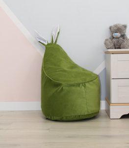 Велюровое зеленое Кресло-мешок 80*55