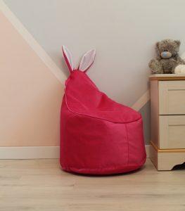 купить малиновое Велюровое Кресло-мешок
