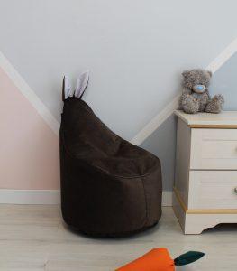 Велюровое Кофейное Кресло-мешок 80*55